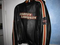Harley Davidson Leather Racing Jacket - InExcellent