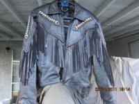Leather Motorcycle Jacket in Large $100.00 Harley