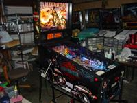 This is a nice Harley Davidson pinball machine. It was