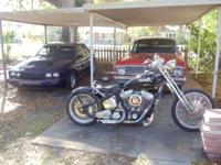 Harley bobber I built to resemble ole school pan , lot