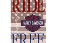 Harley Davidson Ride free Flag, New in bag, has not