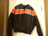 Black Harley Davidson riding jacket. Size XL. Like new.