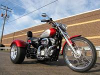 789...SPORTSTER 1200 CUSTOM XL1200C TRIKE BURGANDY AND