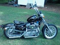 1996 custom Harley Davidson street bob. All the power