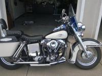 1970 Harley Davidson FLH, heads were reconditioned with
