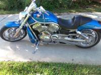2004 Harley Davidson V-Rod for sale, Blue/Silver with