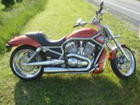 This 2008 VRSCA VRod is in excellent condition, has