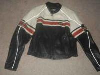 Harley Davidson womens leather jacket. Size L. Only