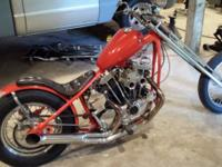 1972 Harley-Davidson XLCH ols school chopper. Runs and