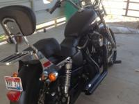 HARLEY DAVISON 1200CC SPORTSTER. 2013 WITH LESS THAN
