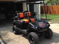 An electric 2003 Yahama Golf Cart for sale. We're
