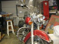 A  Super clean red Harley for sale, A