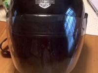 Black, jet gloss 3/4, with detachable face shield