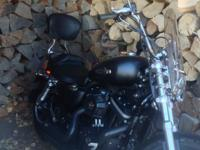 HARLEY SPORTSTER 1200CC, LESS THAN 800 ACTULE MILES.