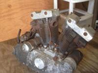 1973 Harley Sportster Engine, 1000 cc  Parts or Rebuild