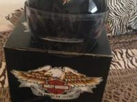 Harley Davidson ladies's 3/4 helmet. Only put on a few