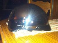 Chrome Harley helmet. Size XS. Good condition, worn