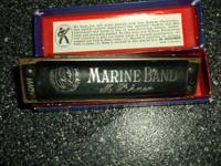I have a  Harmonica Marine Band  Made by M. Hohner in