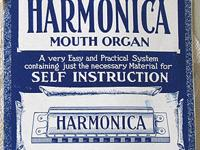 3 Antique Harmonica Music, Instruction and Song Books