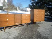 Mid century modern Low chest of