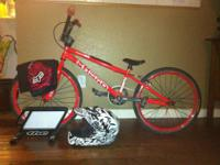This Red on Red Haro Expert Racing BMX Bike ($459) was