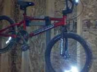 Red Haro tr2.2 track bmx bike. light useage. stock