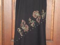 Harolds Long Black Skirt with Color Added in a Special