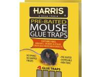 The Harris Mouse Glue Traps (4-Pack) are an easy way to
