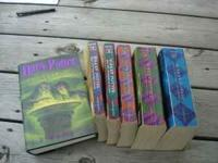 Harry Potter Book Set 1-6 1-5 Paper Back 6 Hard Back