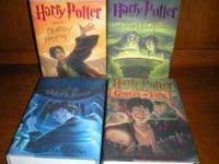 I have hard back Harry Potter books 4-7. $40. Contact .