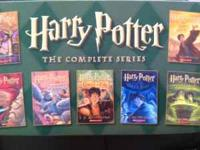 Complete Harry Potter series with bookcase. Books 1-3