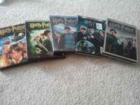 Harry Potter 1-5 DVD set Call, text, or email if