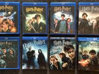 I have all 8 Harry Potter movies on blu ray that I'm