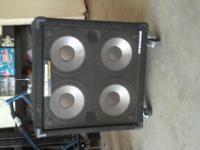 4 ten inch speakers 240 watt 8 ohm base cabinet ive had