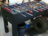 This foosball table is the same quality as the ones