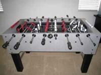 Harvard foosball table, excellent condition, black/gray