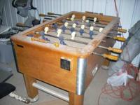 This is a Harvard brand pro foosball table, about as
