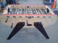Harvard Foosball Table. In fresh condition. Yes this
