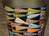 """Classic Harvell 111/2"""" high trash bin with college"""