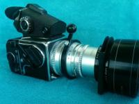 500c body. 150 portrait lens. New eye level finder with