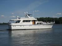This 70 Hatteras is ideal for a live aboard or family