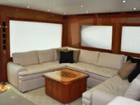 CHECK OUT TIME is a low hour, one owner custom Hatteras