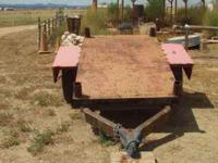Heavy duty home made trailer. Not registered. Great for