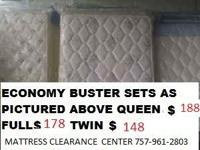 HAVE A GOOD NITE SLEEP ON A BRAND NEW MATTRESS SET FROM