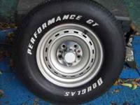 Have set of 2 chevy rims with tires. 255-70-15 tires in