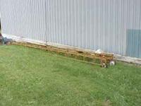 Like new a Snowco model portable 24 foot hay elevator,