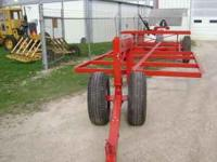round&big square bale hay trailers ,flotation
