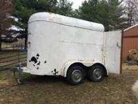 This trailer is a former 2 horse trailer that was