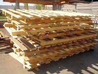 4' x 10' Pallets would work great for storing hay on,