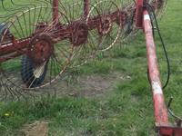 Gehl 219 inline hay rake for sale. Good tight rake that